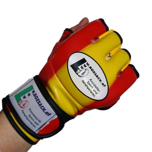 MMA Handschuhe Rot Gelb in verschiedenen Größen Bild f