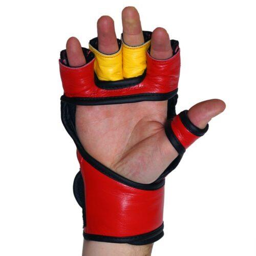 MMA Handschuhe Rot Gelb in verschiedenen Größen Bild e