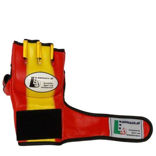 MMA Handschuhe Rot Gelb in verschiedenen Größen Bild d