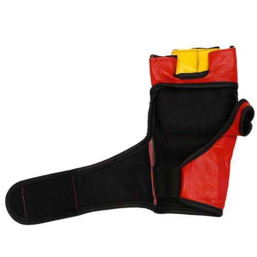 MMA Handschuhe Rot Gelb in verschiedenen Größen Bild c