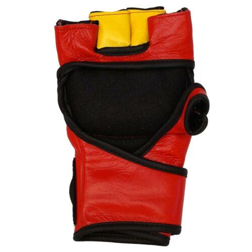 MMA Handschuhe Rot Gelb in verschiedenen Größen Bild b