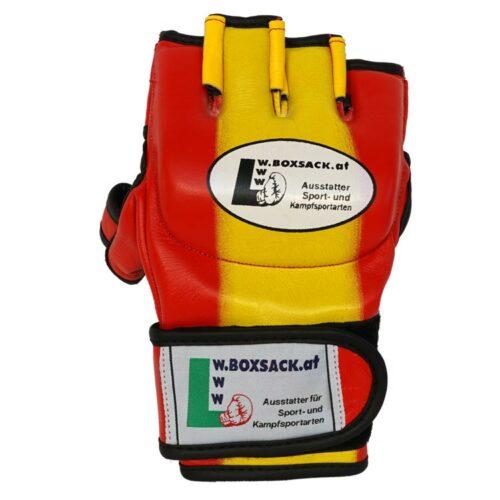 MMA Handschuhe Rot Gelb in verschiedenen Größen Bild g