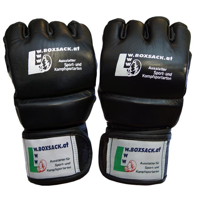 MMA Handschuhe Schwarz Grau in verschiedenen Größen Bild c
