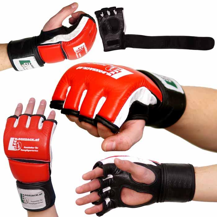 MMA Handschuhe Rot Schwarz in verschiedenen Größen Bild a