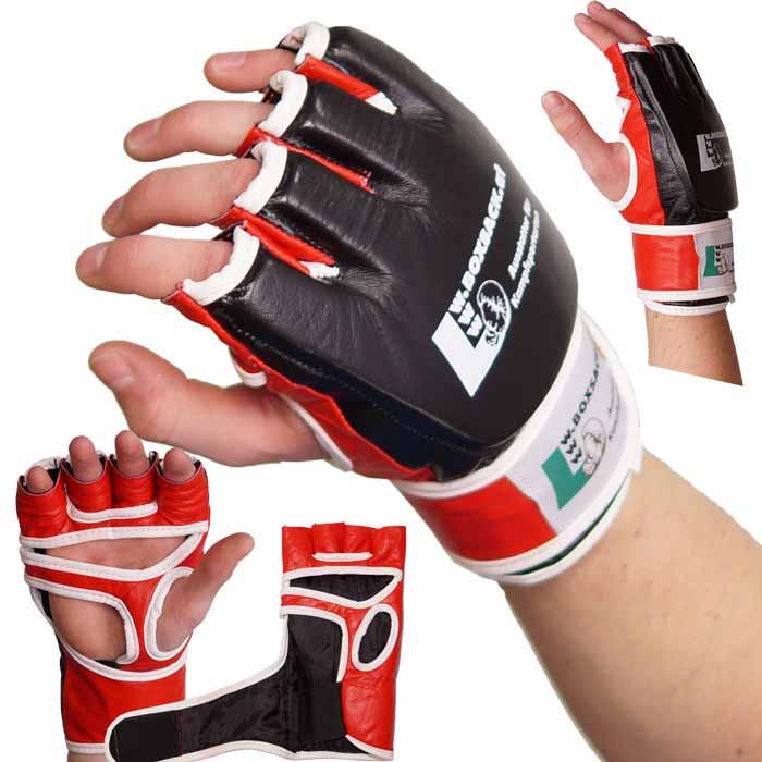 MMA Handschuhe Schwarz Rot in verschiedenen Größen Bild a