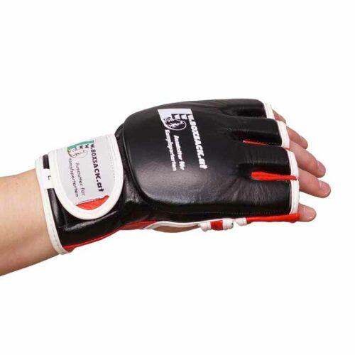 MMA Handschuhe Schwarz Rot in verschiedenen Größen Bild e
