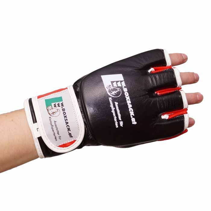 MMA Handschuhe Schwarz Rot in verschiedenen Größen Bild d