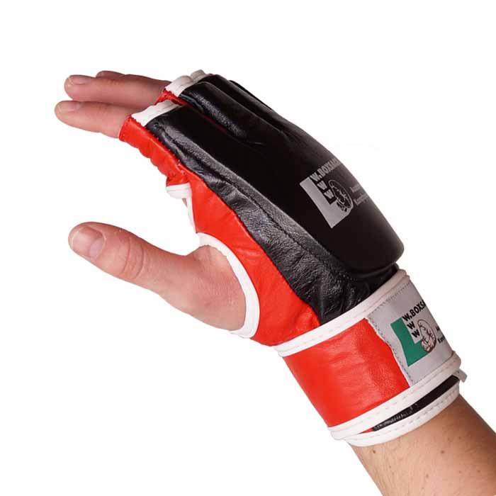 MMA Handschuhe Schwarz Rot in verschiedenen Größen Bild c