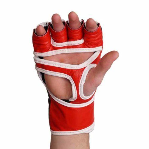 MMA Handschuhe Schwarz Rot in verschiedenen Größen Bild b