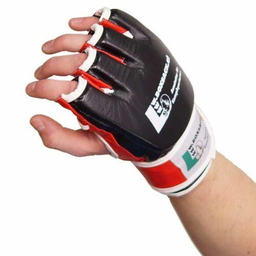 MMA Handschuhe Schwarz Rot in verschiedenen Größen Bild g
