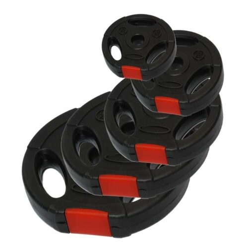 Hantelscheiben Gewichtsscheiben aus Kunststoff mit Griffmulde - verschiedene Gewichte