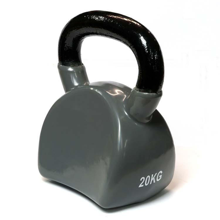 Kettlebell Kugelhantel Body aus Stahl und Vinyl 20 Kg