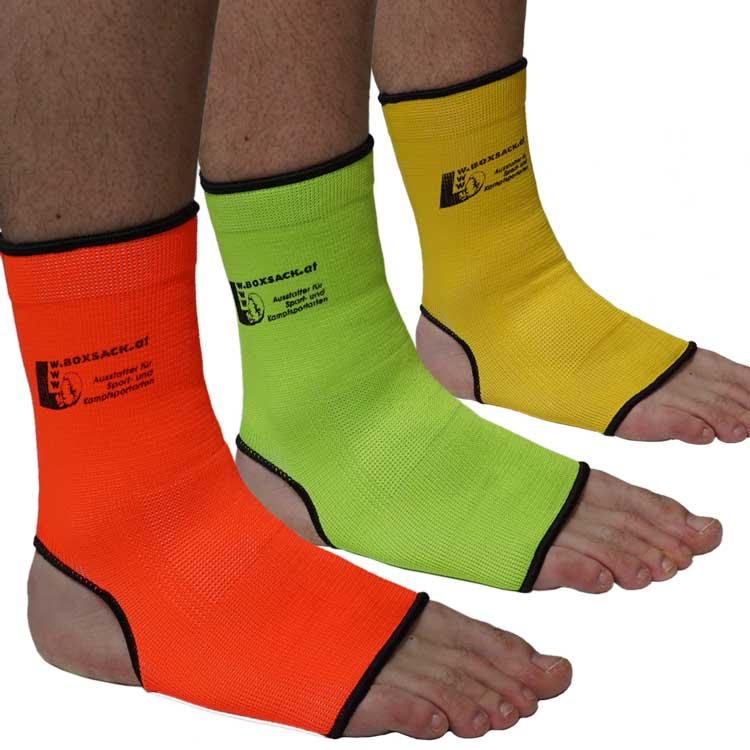 Knöchelschoner Fersenschoner Fußgelenk Bandagen elastisch in Neon Farben