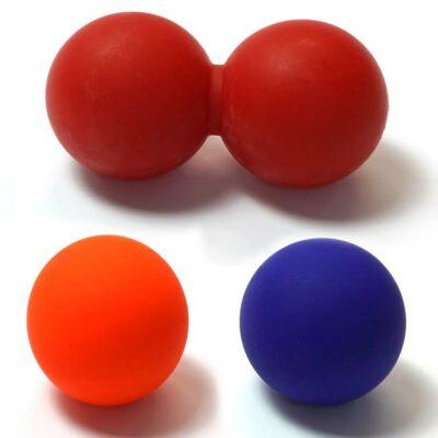 Massageball Massagekugel für Entspannung und Massage einfach oder doppelt