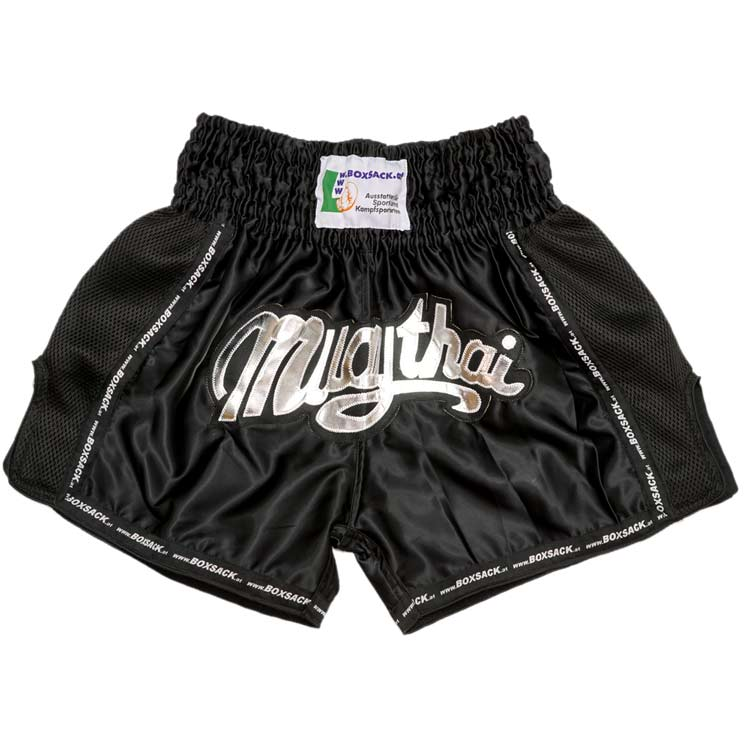 Muay Thai Short Mesh Style Black Typ B