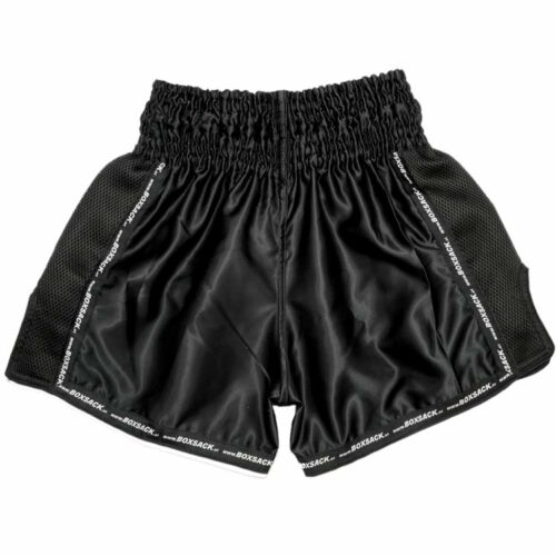 Muay Thai Short Mesh Style Black Typ A