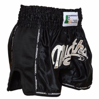 Muay Thai Short Mesh Style Black Typ C