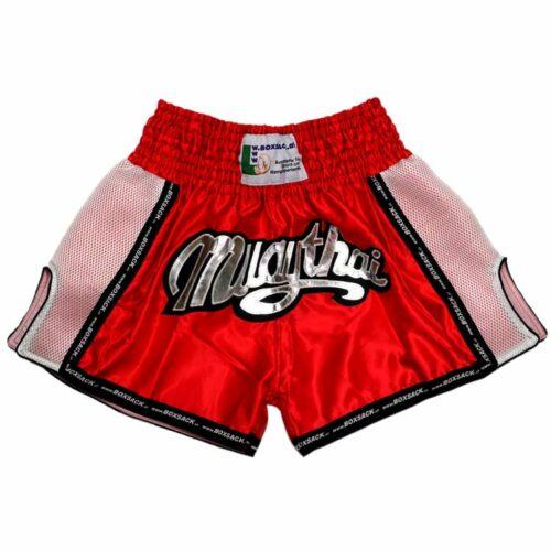 Muay Thai Short Mesh Style Neon Red Typ B