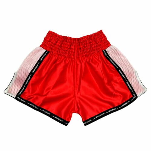 Muay Thai Short Mesh Style Neon Red Typ A