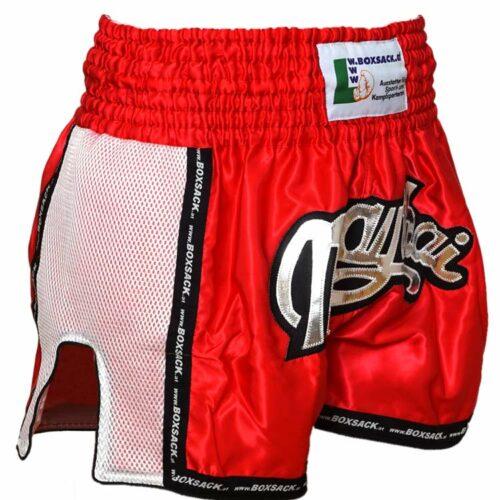 Muay Thai Short Mesh Style Neon Red Typ C