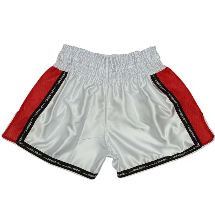 Muay Thai Short Mesh Style Silver Bild b