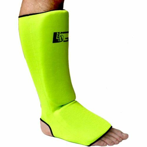 Schienbeinschoner Neon elastisch mit Ristschutz Farbe Neon Grün